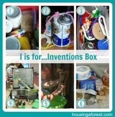 Make an invention box and ignite your child's imagination- love this idea! #narrowboat #history #vacation #boat #trips #canal #bridges #tattoo #roses #castles