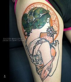 Tattoos Inspired by Alphonse Mucha