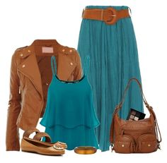 A fashion look from April 2016 featuring plus size womens shirts, cropped jacket and maxi skirts. Browse and shop related looks. Maxi Outfits, Modest Outfits, Classy Outfits, Summer Outfits, Casual Outfits, Cute Outfits, Fashion Outfits, Love Fashion, Womens Fashion