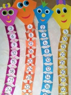 Interactive multiplication math Could change to be more difficult, addition, division, or subtraction. Preschool Classroom Decor, Preschool Learning Activities, Math Classroom, Kindergarten Math, Teaching Math, Preschool Activities, Math For Kids, Fun Math, School Decorations