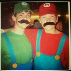 Skandar & Will as Luigi & Mario.. WHERE HAS THIS PICTURE BEEN MY WHOLE LIFE?!?!?!?