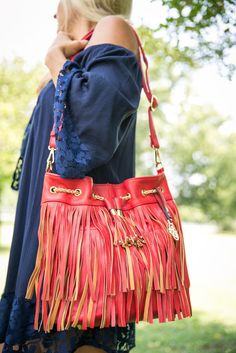 Pink Coconut Boutique | You Can't Fringe With My Wild Side Purse - Red