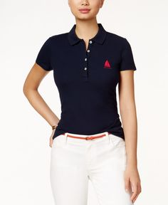 Tommy Hilfiger Embroidered Anchor Polo Top
