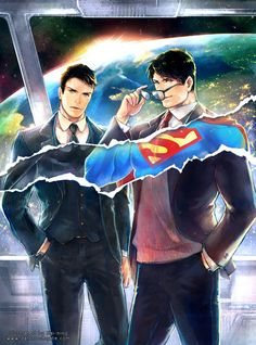 haining-art: Heroes Superman/BatmanThis is done for CWT37(Comic World in Taiwan). Bruce Wayne and Clark Kent