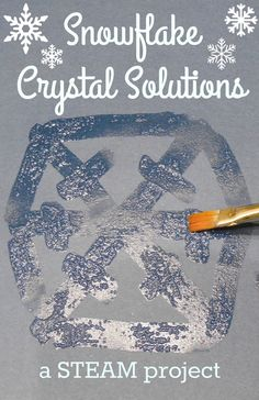 Beautiful snowflakes are made up of many tiny ice crystals that form in symmetric patterns. Ice isn't the only thing that forms crystals, believe it or not, many common household substances are made of lovely crystals too. In this STEAM project (Science,