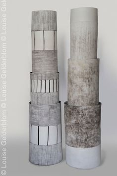 LOUISE GELDERBLOM TOTEMS: These 2.5m tall totems were on display at the HUMAN MADE trend exhibition at Maison