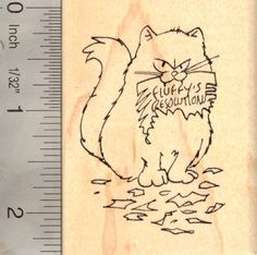 New Year/'s Eve Cat Rubber Stamp   E20114 WM Happy Mew Year