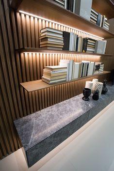 Home Office Design, Home Interior Design, Interior Architecture, Interior Decorating, House Design, Modern Tv Room, Wood Wall Design, Creative Wall Decor, Living Room Decor Cozy