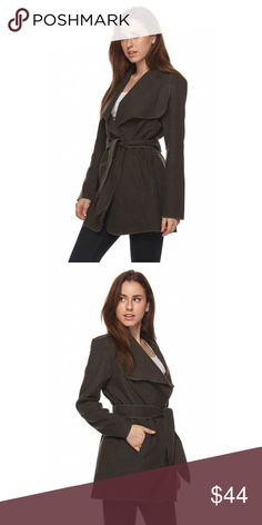 🆕 Olive City Chic Trench Coat Beautiful Belted Trench Coat with Pockets. Color Olive   Polyester Bohemian Sea Jackets & Coats Trench Coats