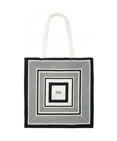 Lala Berlin Kufiya Cotton bag Black - Køb online her! Cotton Suit, Cotton Bag, Lala Berlin, Black And White Bags, Luxury Shop, Big Fashion, Gifts For Girls, Timeless Fashion, Diy Clothes