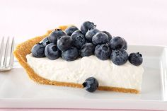 Fresh lemon juice lends its citrusy flavor to this creamy no-bake blueberry pie.