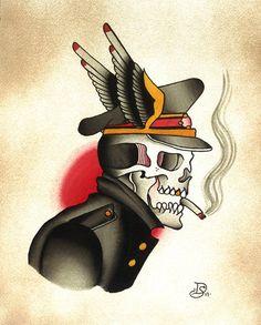 Skull Tattoo Flash | KYSA #ink #tattooflash #tattoo