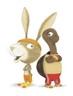 Le lièvre et la tortue (The tortoise and the hare), Jean de La Fontaine http://www.philippejalbert.net