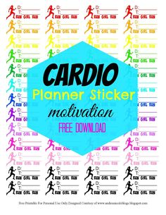 Free Printable Fitness Planner Stickers Andrea Nicole Blogs