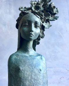 Art Sculpture, Abstract Sculpture, Sculpture Portrait, Paper Clay Art, Art For Art Sake, Wire Art, Statues, Pottery Art, Ceramic Art