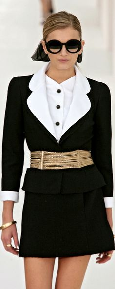 Chanel ~ 2 Piece Classic Black & White