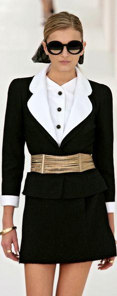 Chanel ~ 2 Piece Classic Black & White