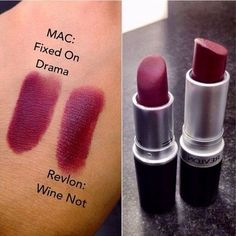 MAC Fixed on Drama Dupe | Revlon 'Wine Not'