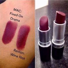 MAC Fixed on Drama Dupe | Revlon 'Wine Not'