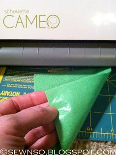 SewNso's Sewing Journal: Cutting fabric & felt with the Silhouette ill be glad I pinned this for me to use my cameo when I get into sewing more