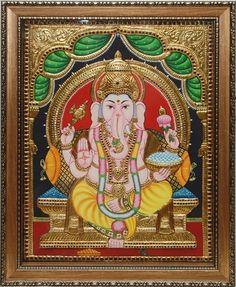 Ganesh - Tanjore painting......