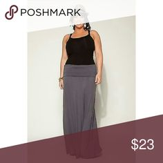 Curvy Posh Gray Maxi Skirt For the posh fabulous curvy ladies! Soft gray maxi skirt.  Looks great with a fitted tee and a statement necklace.  96% Cotton 4% Spandex. Canari USA Skirts Maxi