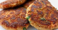 Crunchy on the outside, moist and delicious on the inside... just how a salmon cake should be!