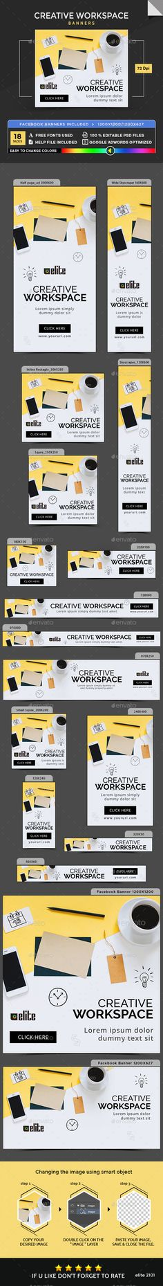 Creative Workspace Banners - Banners & Ads Web Elements Download here : https://graphicriver.net/item/creative-workspace-banners/19298178?s_rank=26&ref=Al-fatih