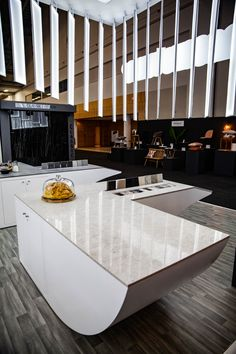 The four Caesarstone colours featured were: 13mm marble-inspired White Attica, 20mm Excava that embraces a metallic moment, 13mm concrete-inspired Rugged Concrete and 20mm Bianco Drift, a classic favourite. Each was perfectly installed by the craftsmen at MIT Granite, a Caesarstone Accredited Fabricator.