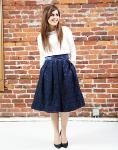The Audrey Skirt:  beautiful for Christmas.