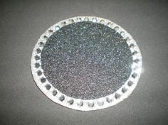 BLACK & BLING COASTER sparkling black eco felt by LaurieBCreations, $5.00