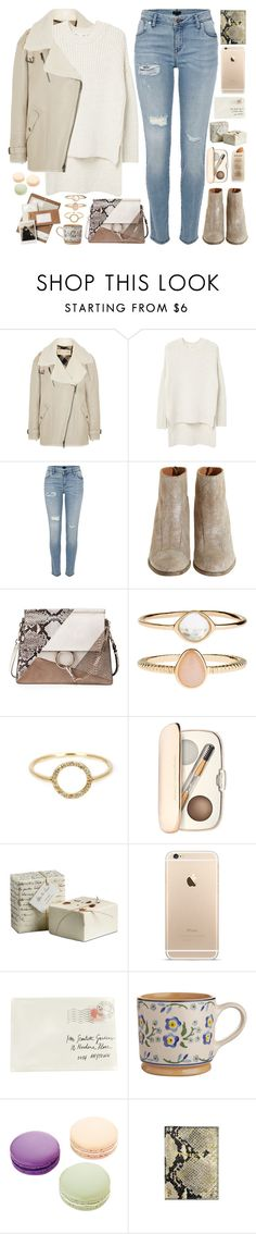 """""""2457. You can't start the next chapter of your life if you keep re-reading the last one."""" by chocolatepumma ❤ liked on Polyvore featuring Burberry, MANGO, River Island, Hoss Intropia, Chloé, Accessorize, Ileana Makri, Jane Iredale, Moschino and Ladurée"""