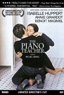 A young man romantically pursues his masochistic piano teacher.