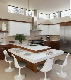 156 surprising small kitchen design ideas and decor -page 16 > Homemytri. Kitchen Room Design, Luxury Kitchen Design, Kitchen Cabinet Design, Living Room Kitchen, Home Decor Kitchen, Interior Design Kitchen, Kitchen Furniture, Home Kitchens, Kitchen Layouts