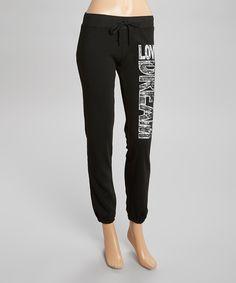 Black 'Love Dream' Sweatpants - Women & Plus by Maze Collection #zulily #zulilyfinds