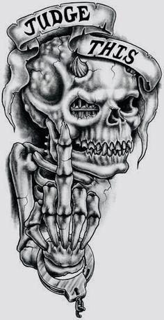 skull tattoos drawings ~ Ink ~ skull tattoos for women Evil Skull Tattoo, Skull Rose Tattoos, Skull Sleeve Tattoos, Skull Tattoo Design, Tattoo Design Drawings, Skull Design, Tattoo Sketches, Body Art Tattoos, Tattoo Designs