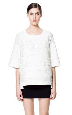 046cdfdfcfbfa SWEATSHIRT WITH LEATHER APPLIQUÉ Cute Sweatshirts