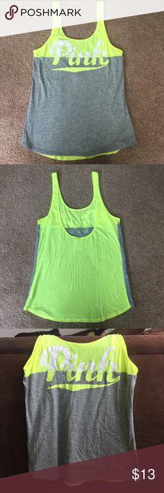Victoria's Secret tank top Low back neon Victoria's Secret tank top. Hardly worn. Victoria's Secret Tops Tank Tops