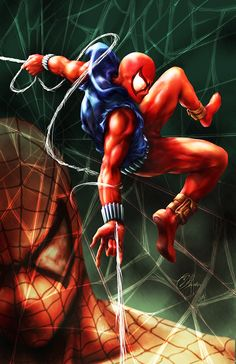 Just knocking out the prints for the Toronto FanExpo convention in August. I lose all objectivity after working on a piece for more than five days, so I. Marvel Comics Art, Marvel Comic Books, Fun Comics, Marvel Heroes, Comic Books Art, Marvel Dc, Book Art, Ben Reilly, Planet Comics
