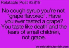 Grape Flavored Cough Syrup