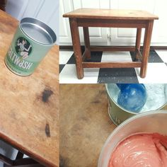 It's been another rainy day on the Carolina Coast – time to try something new! We picked up a can of and decided to try it on this Lil table. Try Something New, Pick Up, Stay Tuned, Painted Furniture, Coast, Canning, Day, Table, Vintage