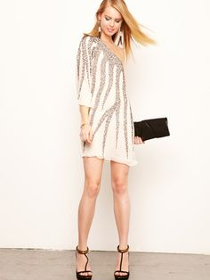 Alice + Olivia - Kira silk beaded asymmetrical dress - summer glam