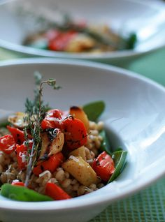 Barley Risotto with Roasted Root Vegetables and Spinach | What Dress Code for Camille Styles
