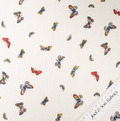 Multi Coloured Butterfly Printed Linen Flax Fiber, Buy Fabric Online, Printed Linen, Fabric Shop, Butterfly Print, Linen Fabric, Pure Products, Prints, Color