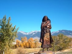 Lewis & Clark would have been lost without her.  Sacajawea.
