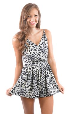 Let It Flow Leopard Romper shopbelleboutique.com