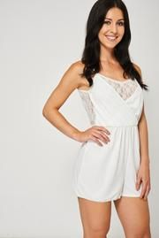 8673ca070ae Floral Lace Cami Playsuit In White Ex-Branded – Mahoganyfair