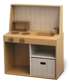 .段ボール簡単工作シリーズ おままごとダンボールキッチン Cardboard Kitchen, Cardboard Play, Cardboard Dollhouse, Cardboard Box Crafts, Cardboard Furniture, Diy Dollhouse, Dollhouse Furniture, Kids Furniture, Cardboard Box Houses