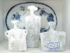 'Little sculptures' on the shelf. Sculptures by kira-cph.com