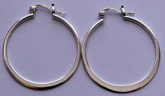 Sterling Silver Large Hoop Earrings 3 Grams by onetime on Etsy, $5.25